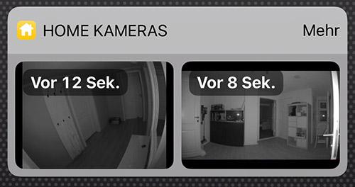 Homekit App Kameras