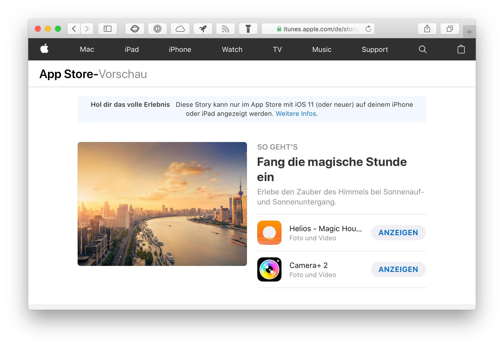 Verlinken App Store