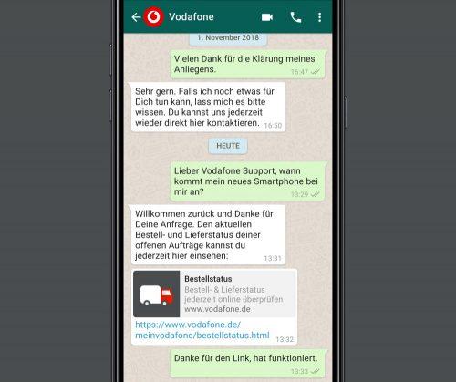 Vodafone Whatsapp Chat Hotline