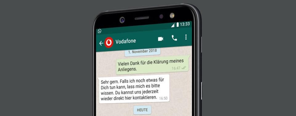 vodafone bietet kundenservice ber whatsapp an iphone. Black Bedroom Furniture Sets. Home Design Ideas