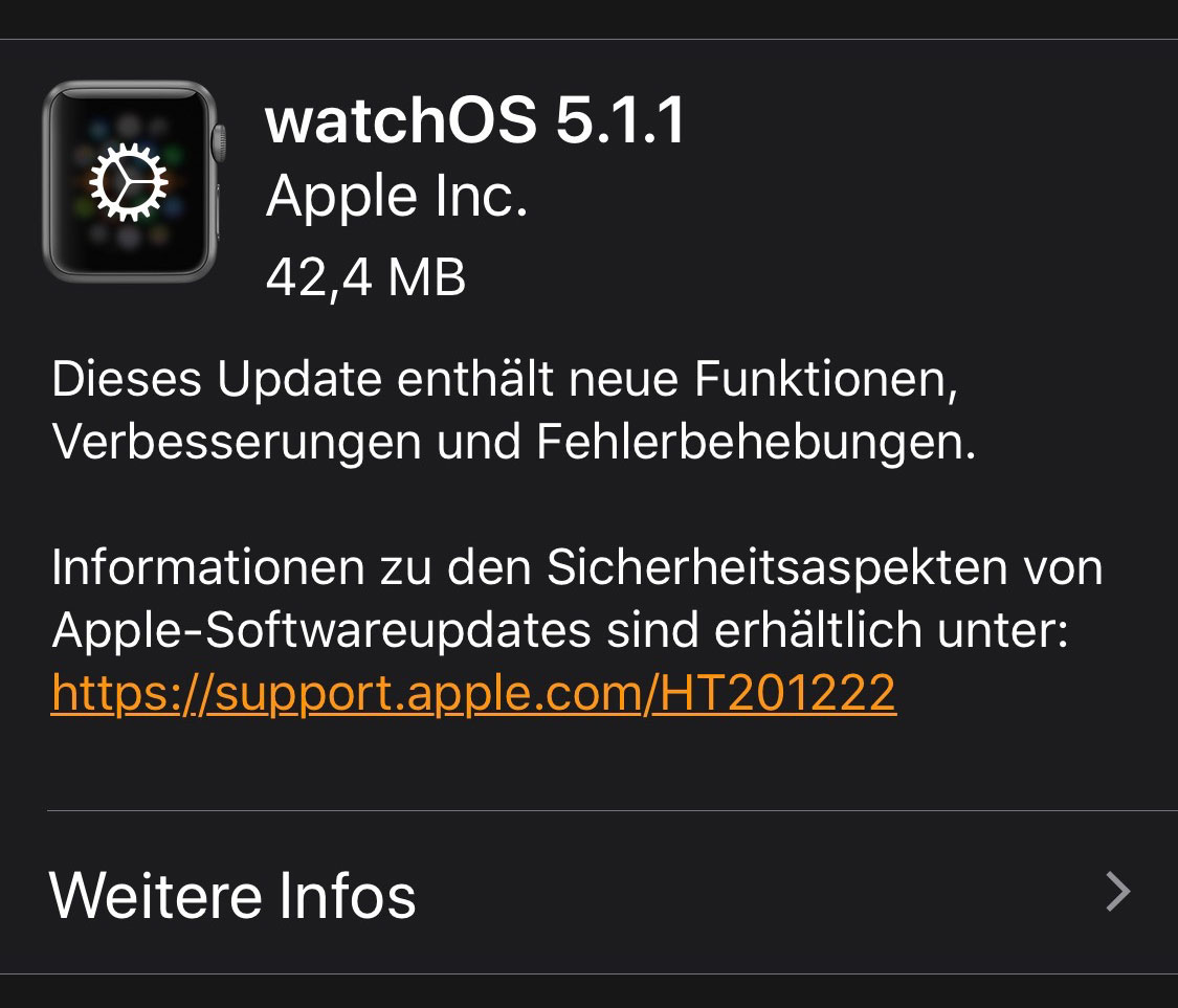 Watchos 5 1 1 Update
