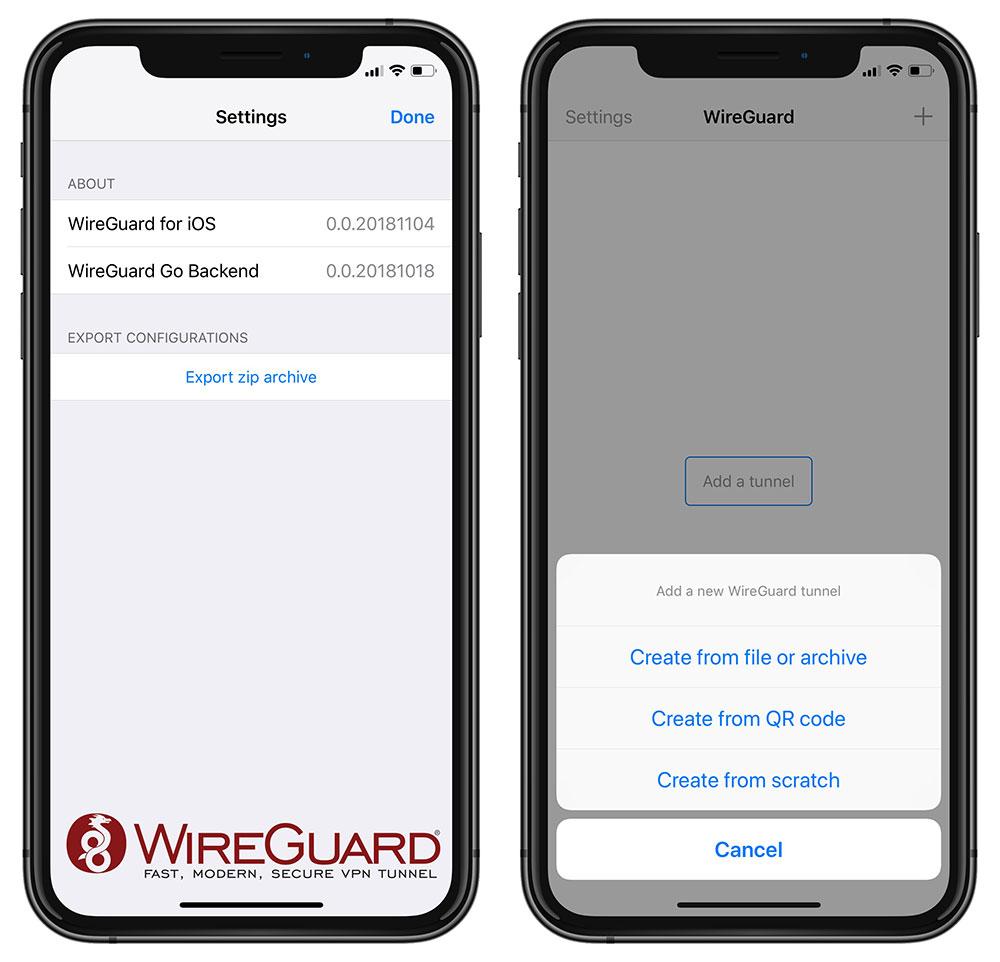 IOS version of available VPN solution> iphone-ticker de