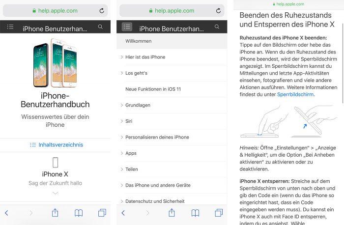 Apple Online Handbuch Alt