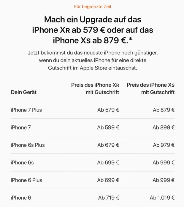 Apple Trade In Angebote Iphone Xr Und Iphone Xs