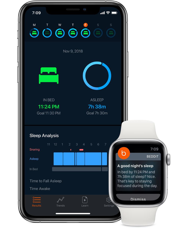 Beddit Schlafmonitor App
