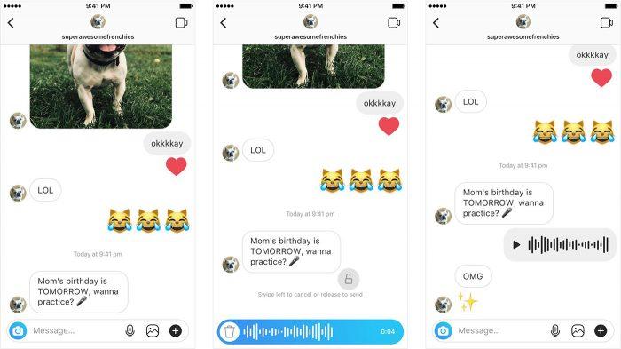 Instagram Sprachnachrichten