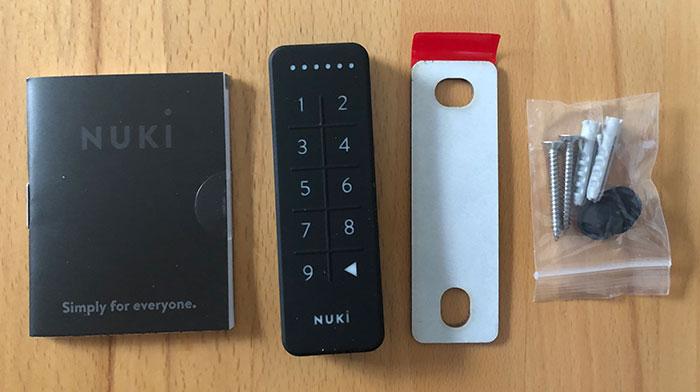 Nuki Keypad Lieferumfang