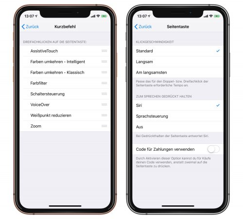 Seitentaste Iphonexs