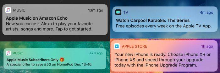 Werbe Push Apple