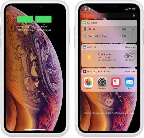 Apple Smart Battery Case Akku Anzeige