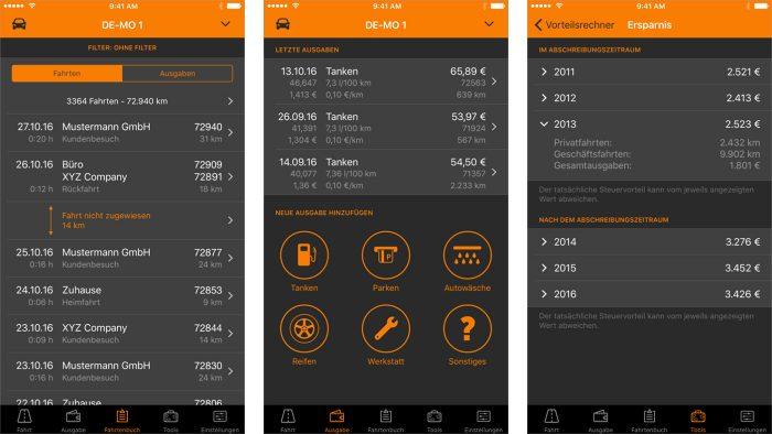 Driverslog Pro App Screenshots