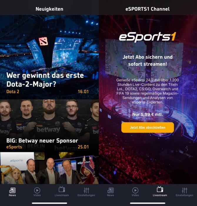 Esports1 App