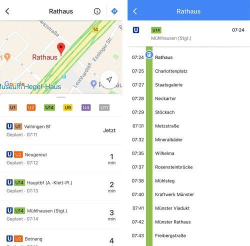Google Maps Abfahrtzeiten An Haltestellen