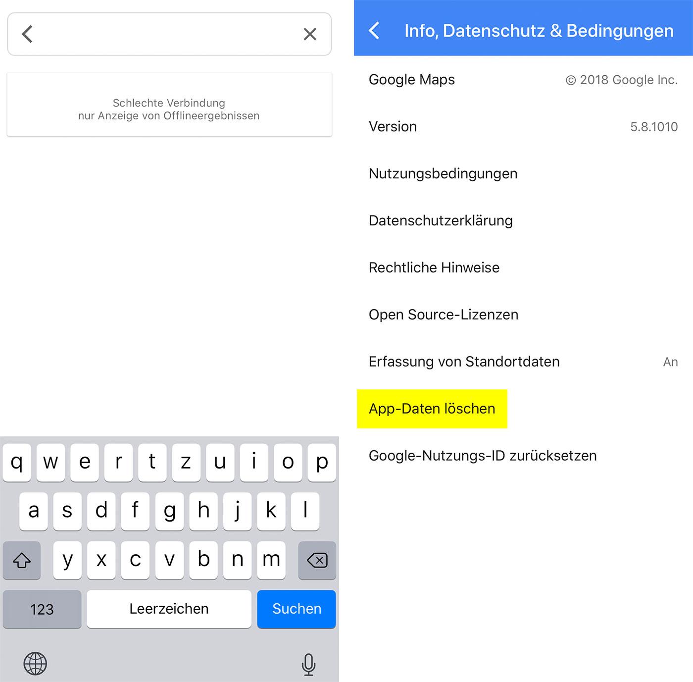 Wenn Google Maps Langsam Ist App Daten Löschen Kann Helfen Iphone