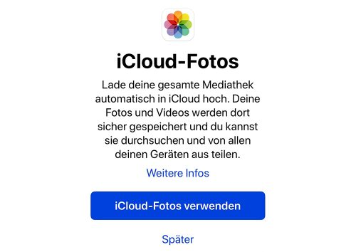 Icloud Fotos Breit