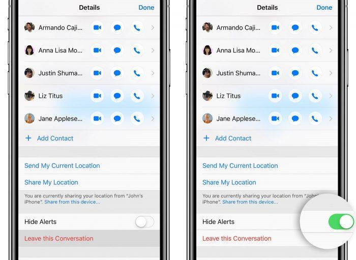 Ios12 Iphone X Gruppen Chat Verlassen