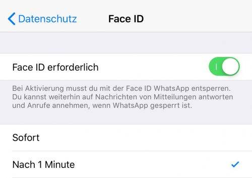 Face Id Whatsapp