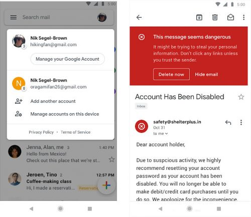 Gmail Material Design
