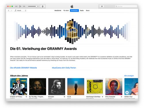 Grammy 2018 Itunes