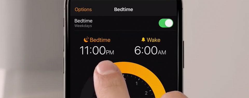 """Im Video: Die """"Schlafenszeit""""-Funktion von iOS 12"""