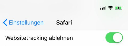 Tracking Ablehnen