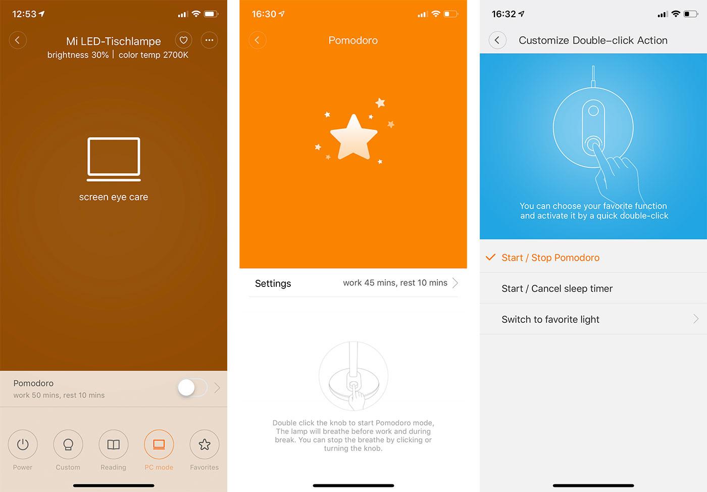 Xiaomi Mi Desktop Lamp App