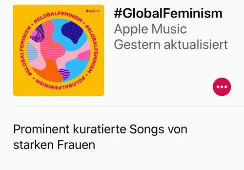 Apple Music Playlist Frauentag