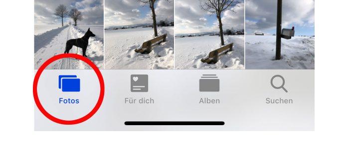 Fotos App Mit Taste Nach Unten Scollen