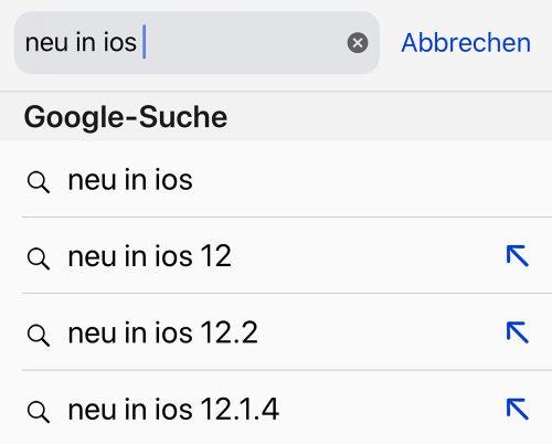 Safari Suchvorschlaege Modifizieren Ios 12 2