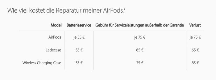 Service Airpods Large