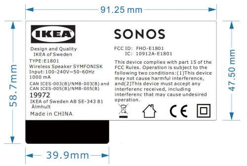 Sonos Ikea Label