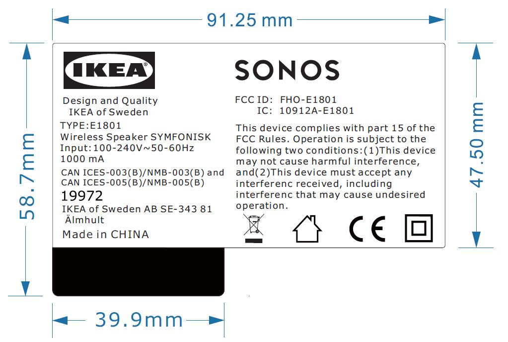 Ikea Symfonisk Zulassungs Unterlagen Zeigen Sonos Lautsprecher