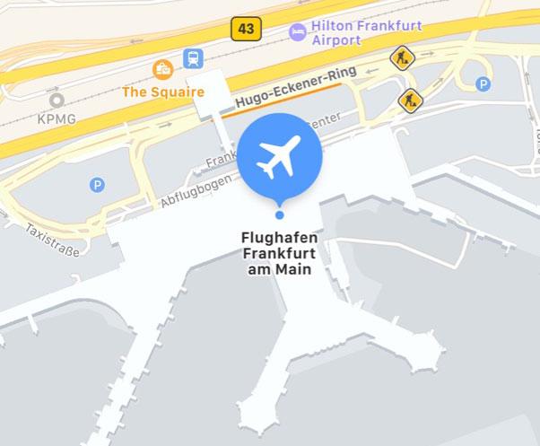 Apple Maps Innenraumkarten Fur Den Flughafen Frankfurt Fra Iphone Ticker De