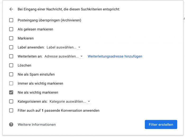 Gmail Nachrichten Als Nicht Wichtig Markieren