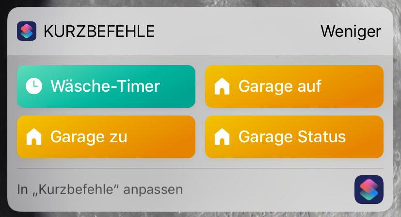 chamberlain garagentor per siri kurzbefehl ffnen iphone. Black Bedroom Furniture Sets. Home Design Ideas