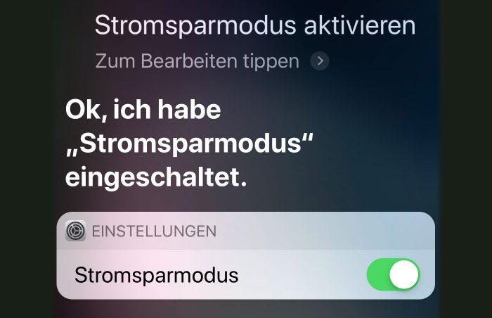 Iphone Stromsparmodus Mit Siri Aktivieren