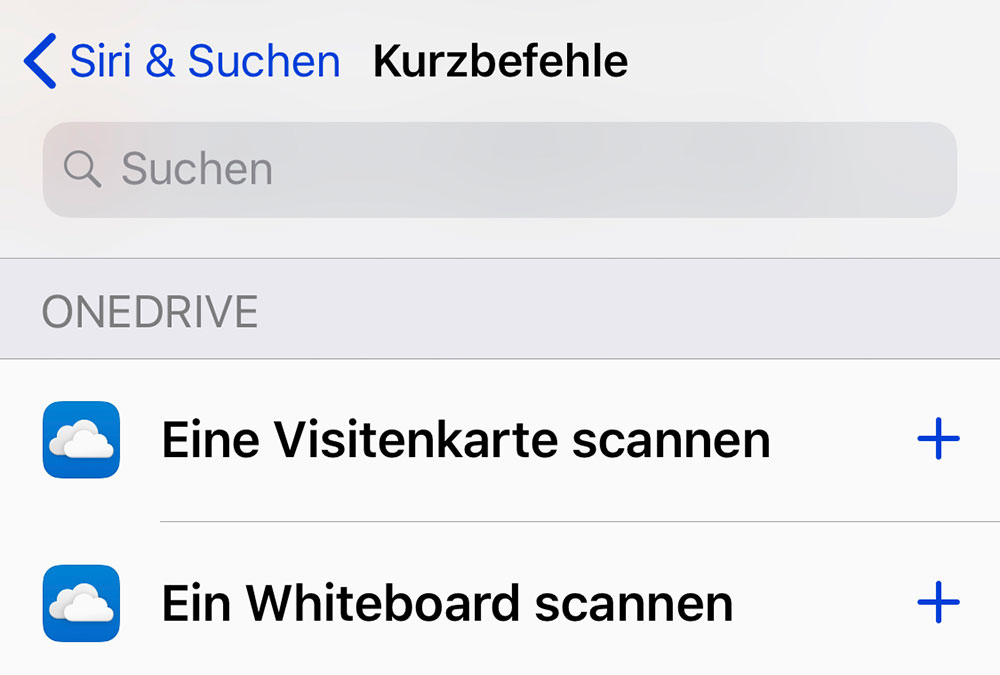 Microsoft Onedrive App Scannt Jetzt Per Siri Kurzbefehl In