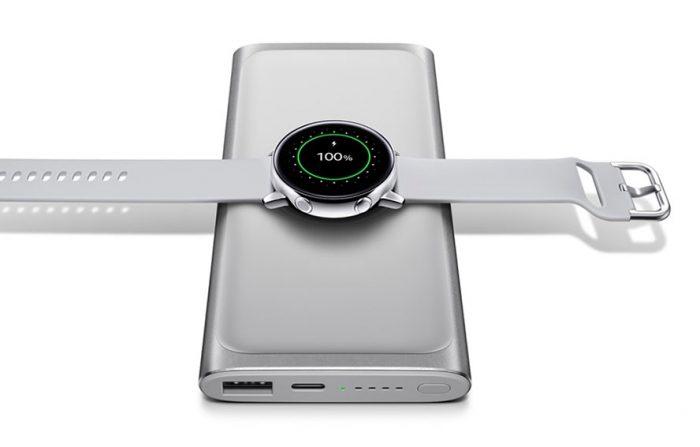 Samsung Galaxy Watch Laden Auf Smartphone