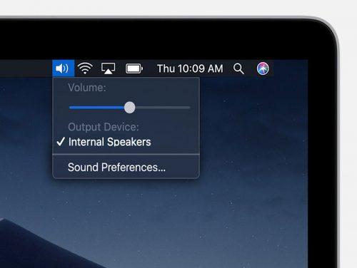 Siri Lautstarke Mac