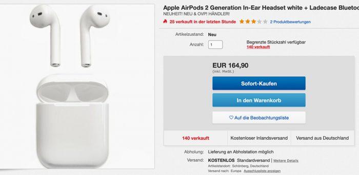 Airpods Ebay Wow Angebot