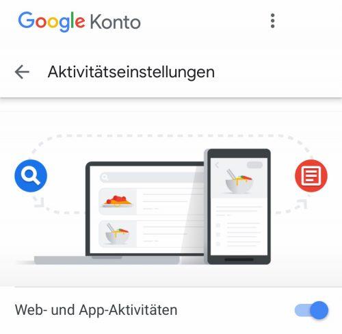 Aktivitaets Google