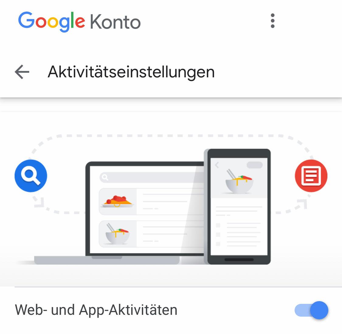 Web & App Aktivitäten Löschen