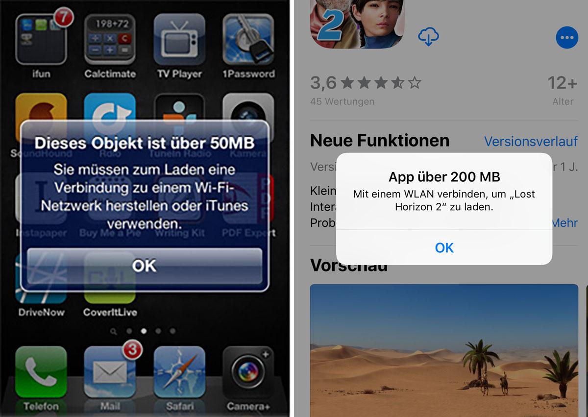 App 200 Mb Frueher Heute