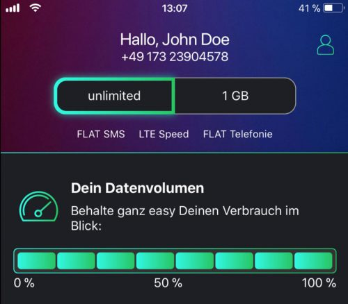 Datenvolumen Freenet Funk