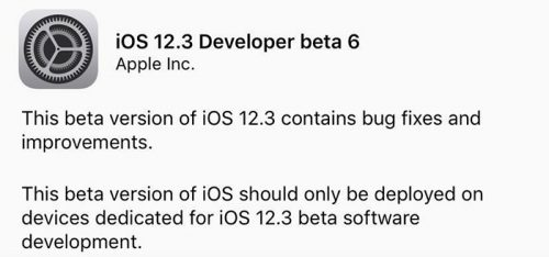 Ios 12 3 Beta 6