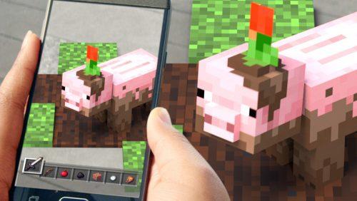 Minecraft Earth Schwein