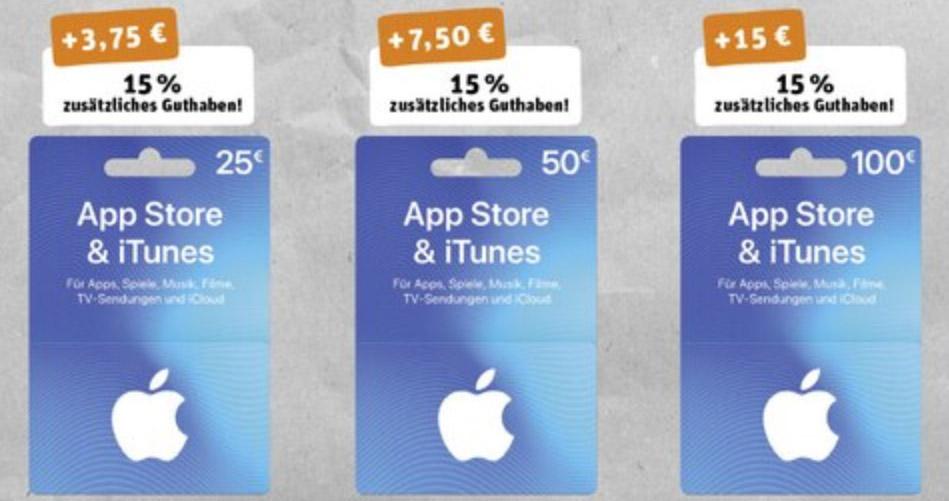 Itunes Karten Diese Woche Bei Rewe Mit Bonus Iphone Ticker De