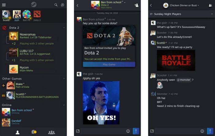Steam Chat App Screenshots