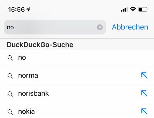 Suchvorschlag Duckduckgo