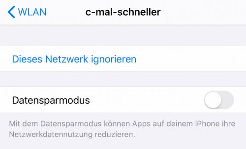 Datensparmodus Ios 13